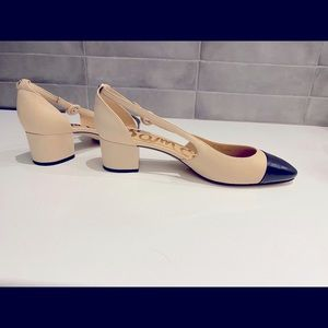 Sam Edelman two tone sling backs
